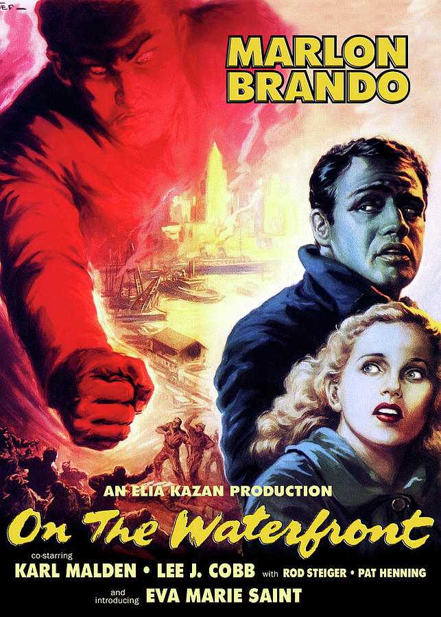 on The Waterfront 2, With Marlon Brando, 1954 Mixed Media