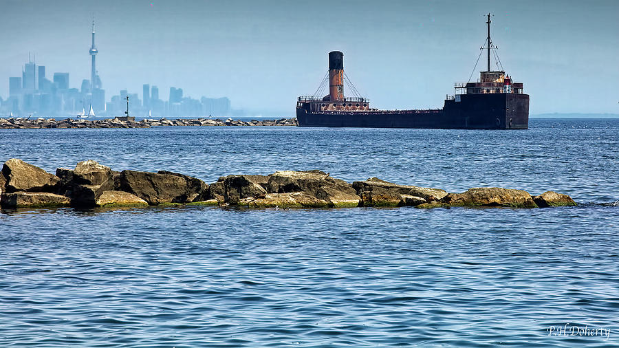 Once A Freighter Now A Breakwater Photograph