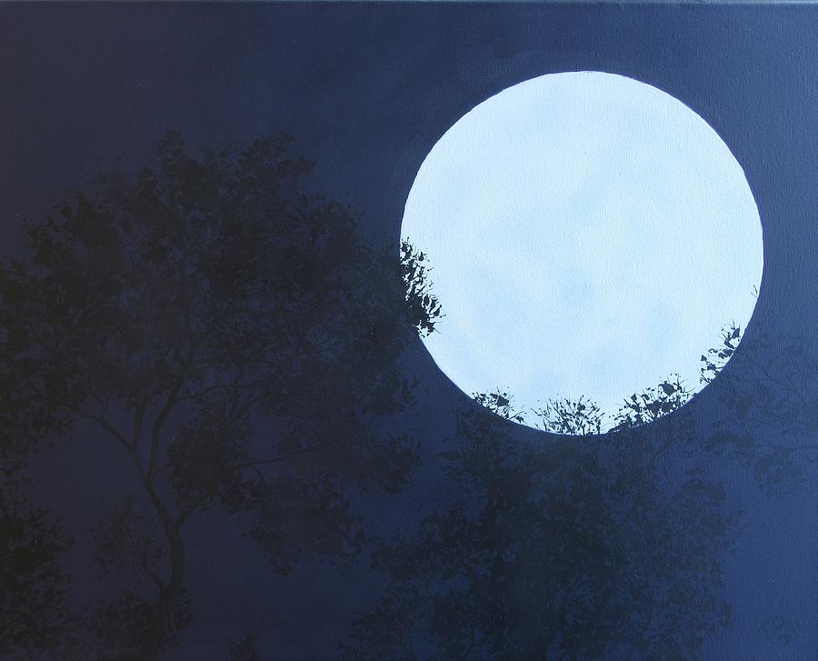 Once In A Blue Moon Painting