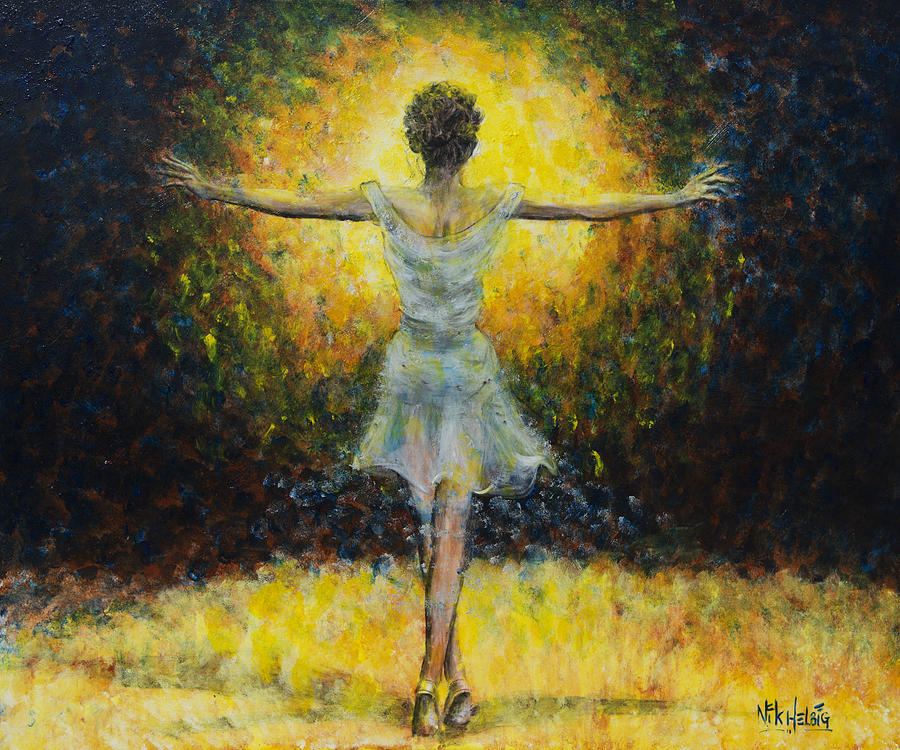 Dancer Painting - Once In A Lifetime by Nik Helbig