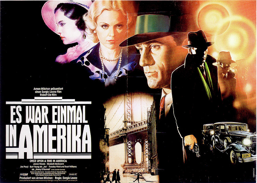 once Upon A Time In America French Movie Poster 1984 Mixed Media