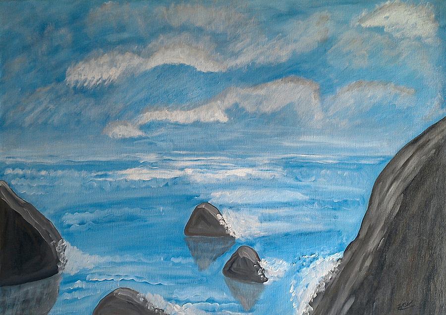 Ondas Do Mar Painting