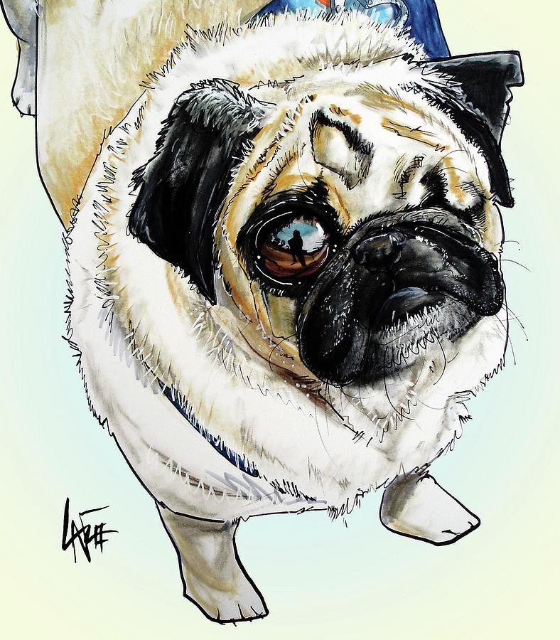 One Eyed Pug Drawing