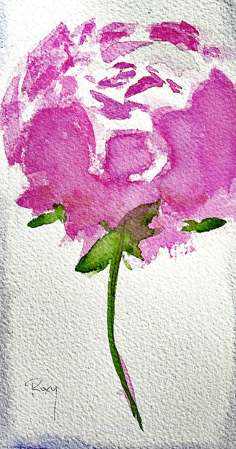 One Fluffy Peony Painting