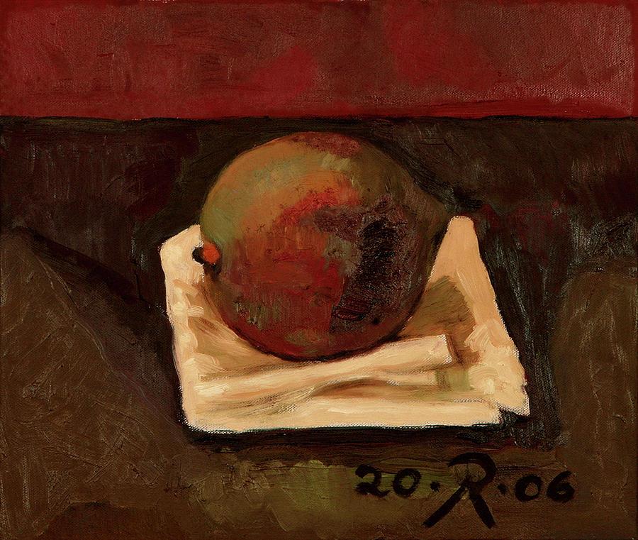 One Fruit Painting by Raimonda Jatkeviciute-Kasparaviciene