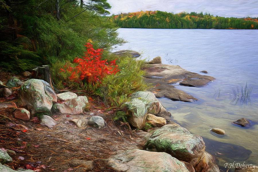One Last Artistic View Of Silent Lake Digital Art
