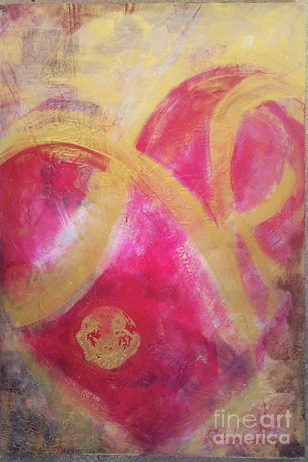 One Love Heart Painting by Kristen Abrahamson
