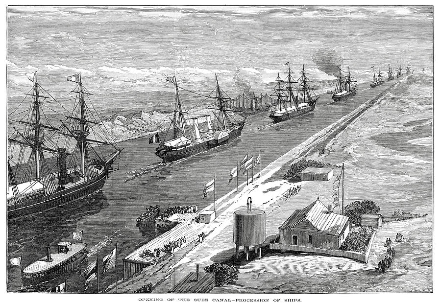 Opening of the Suez Canal Drawing by Duncan1890