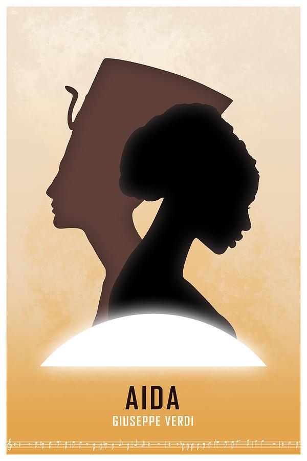 Aida Digital Art - Opera poster - Aida by Giuseppe Verdi by Moira Risen