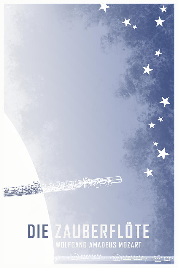 The Magic Flute Digital Art - Opera poster - Die Zauberfloete by Wolfgang Amadeus Mozart by Moira Risen