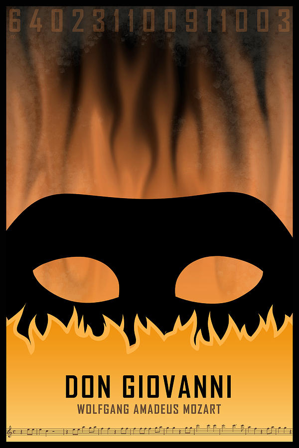 Wolfgang Amadeus Mozart Digital Art - Opera poster - Don Giovanni by Wolfgang Amadeus Mozart by Moira Risen