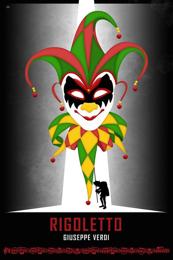 Rigoletto Digital Art - Opera poster - Rigoletto by Giuseppe Verdi by Moira Risen