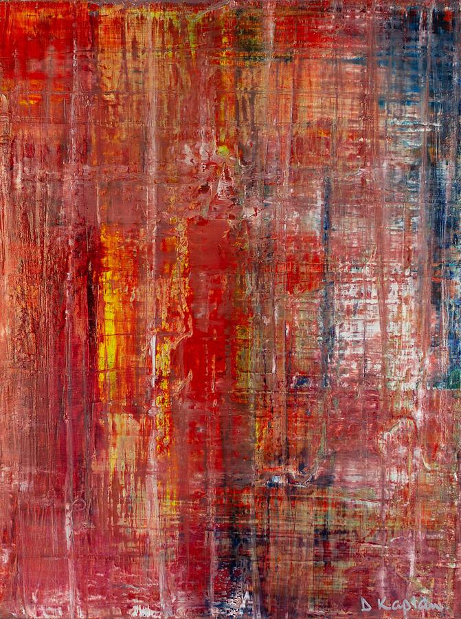 Derek Kaplan Painting - Opt.11.20 All About Love by Derek Kaplan