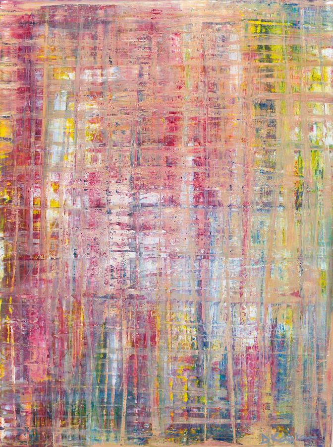 Derek Kaplan Painting - Opt.17.20 Inside Out by Derek Kaplan