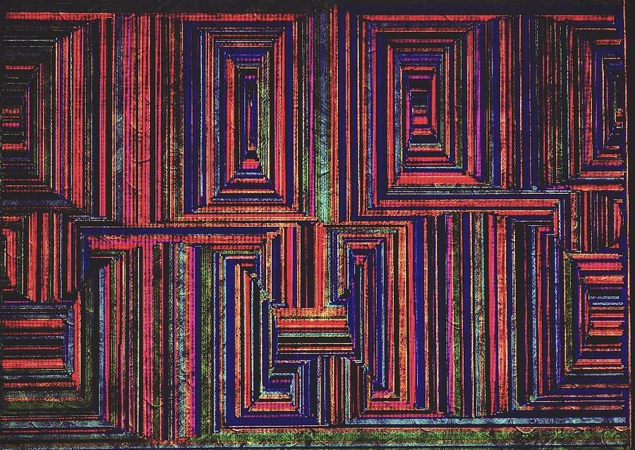 Optical Oddity Mixed Media by Shannon Johnson