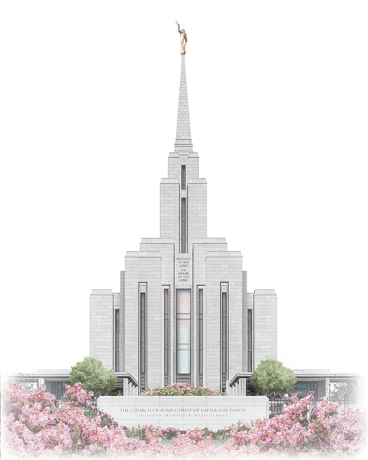 Oquirrh Digital Art - Oquirrh Mountain Temple - Celestial Series by Brent Borup