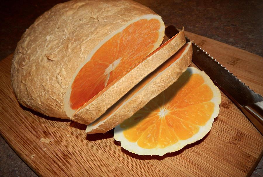 Orange Bread Loaf Digital Art