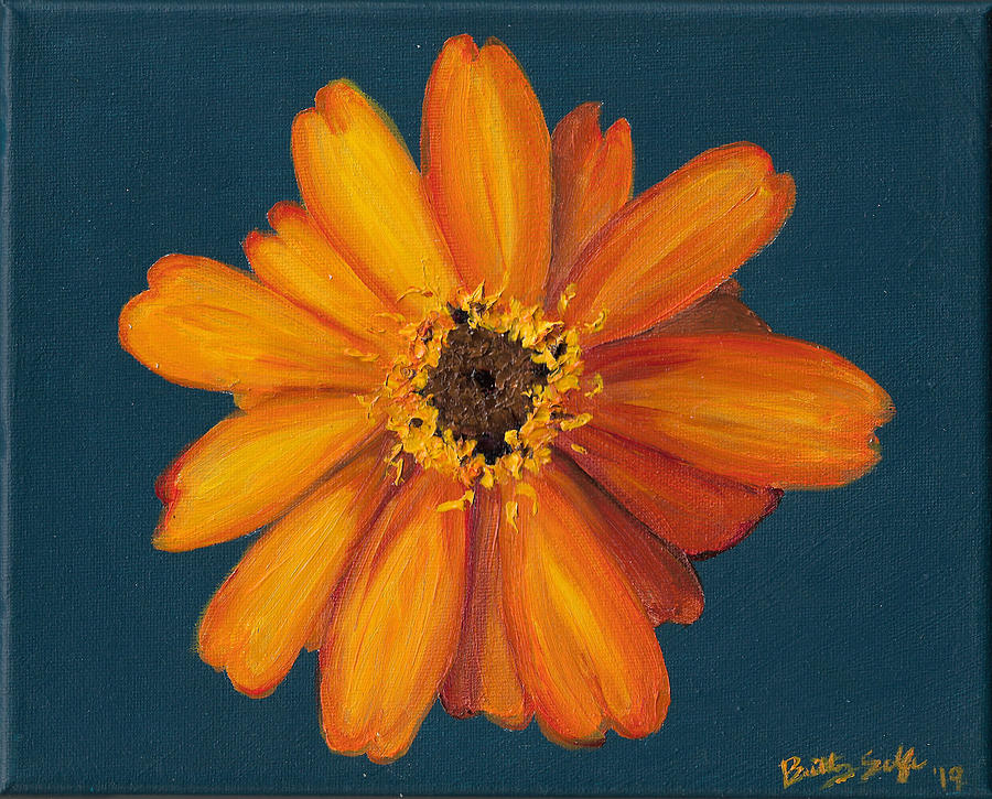 Orange Flower 1 by Brittany Bert Selfe