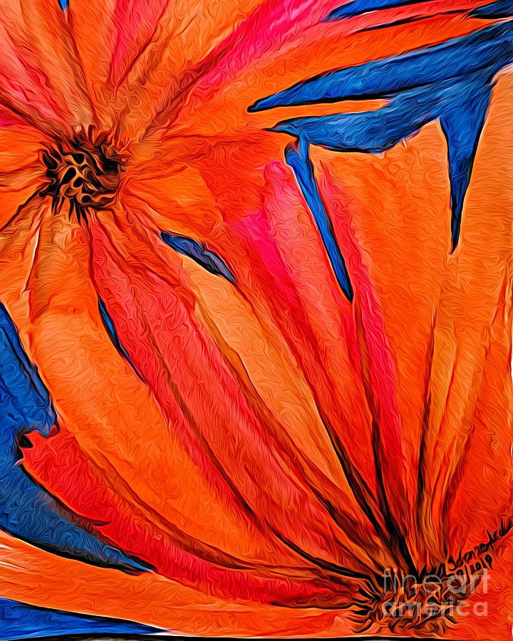Orange Flowers Painting
