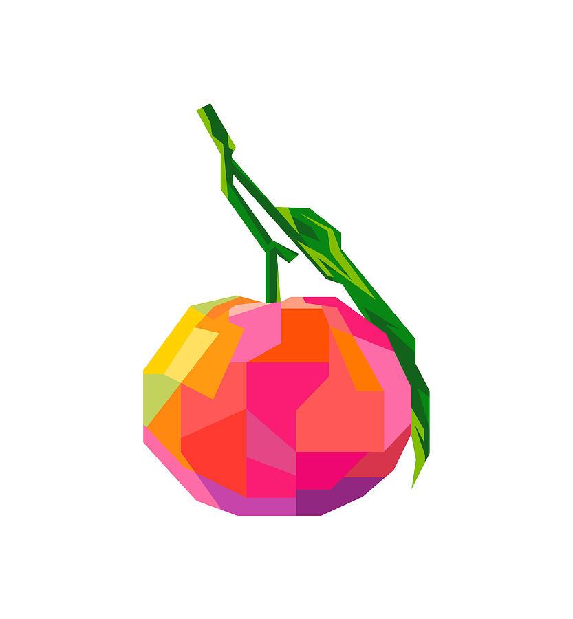 Orange Fruit Wpap Pop Art Transparant Background Digital Art