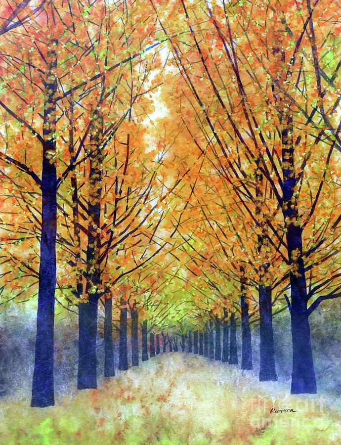 Orange Grove-pastel Colors Painting