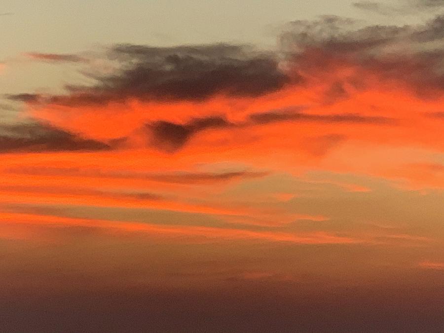 Sunset Photograph - Orange lofty sunset by Gary Wohlman