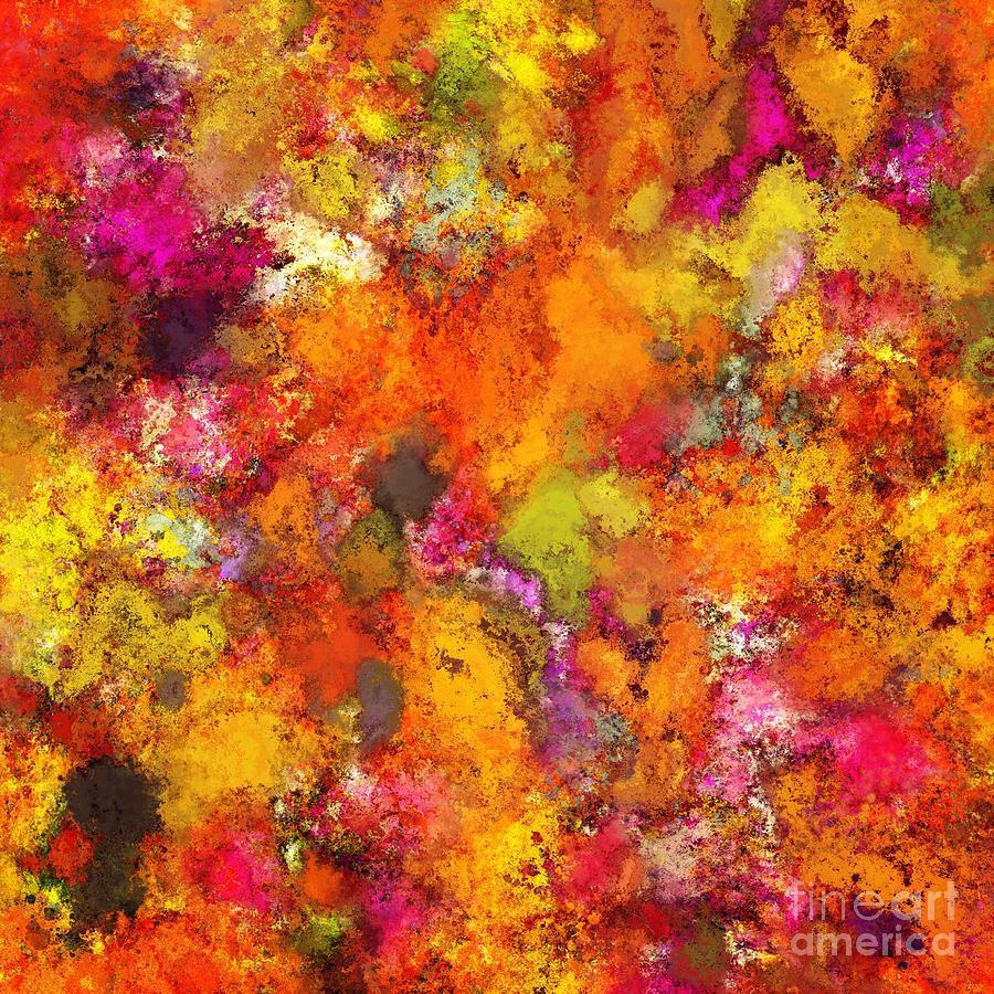 Splash Digital Art - Orange Pop by Keith Mills
