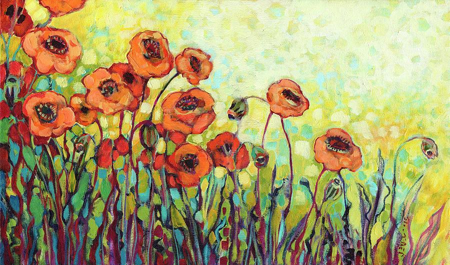 Orange Painting - Orange Poppies by Jennifer Lommers