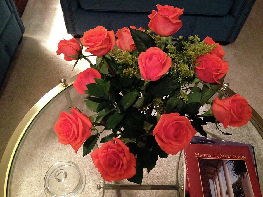 Orange Roses Bouquet Photograph