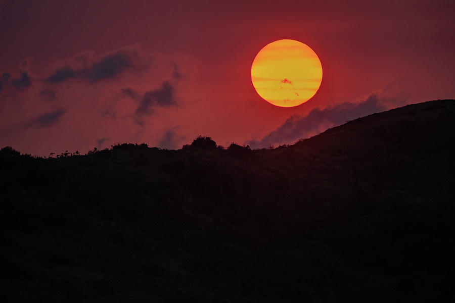 Orange Sunset by Mark Hunter
