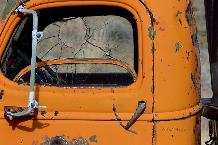 Orange Truck Shot Up by Kae Cheatham