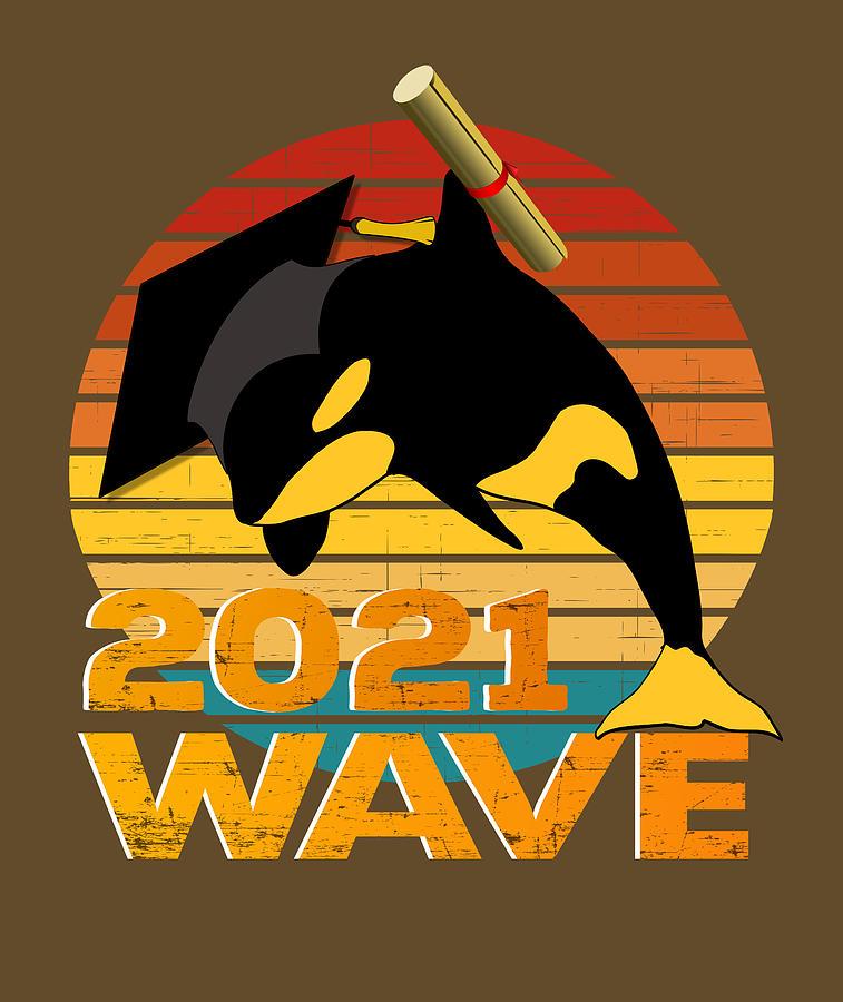 Orca Graduate 2021 Wave The Graduation Funny Orcas Digital Art