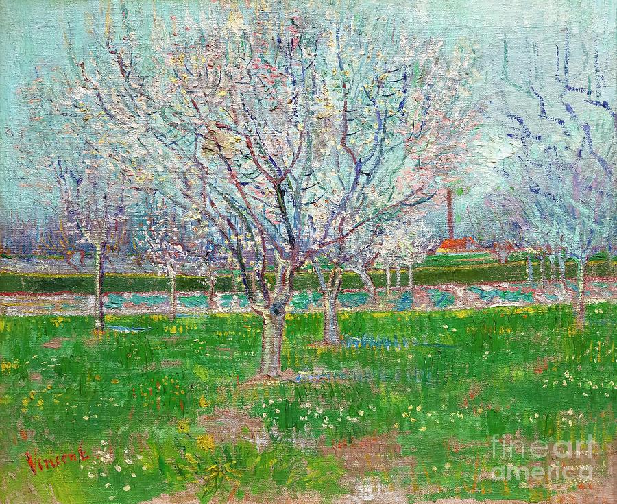 Orchard In Blossom By Vincent Van Gogh Laptop Shoulder Bag