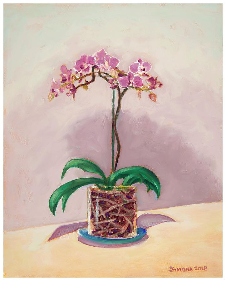 Orchid Painting - Orchid and Roots by Simona Hernandez