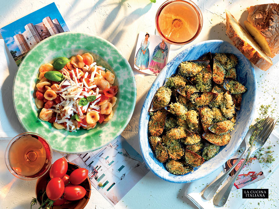Orecchiette with Pomodoro Sauce and Stuffed Mussels Photograph by Riccardo Lettieri