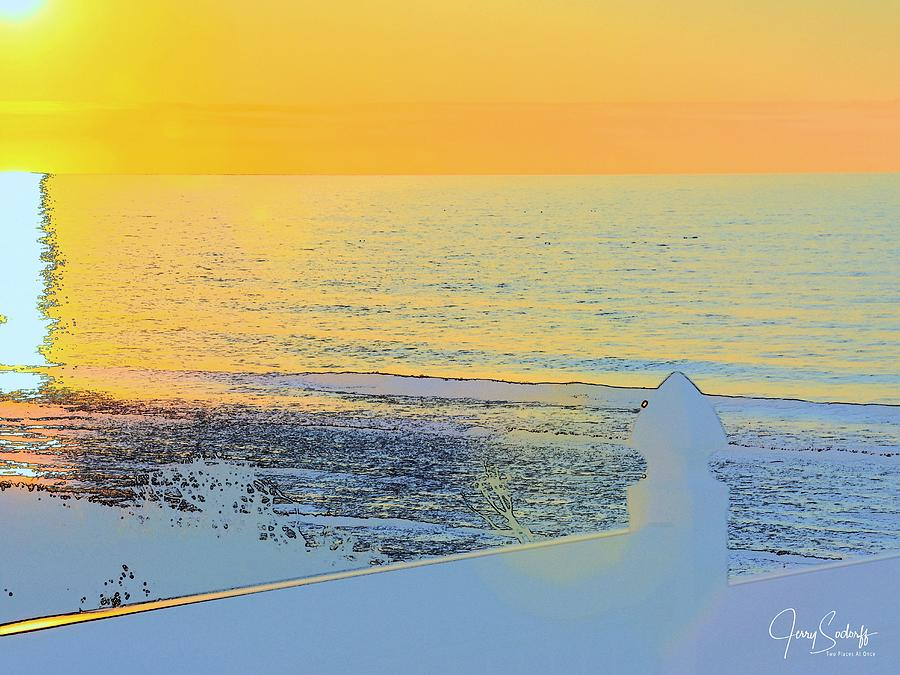 Oregon Beach Sunset Abstract by Jerry Sodorff
