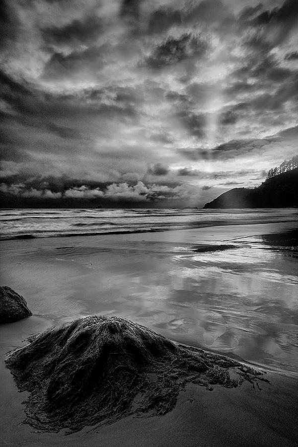 Oregon Coast With God Rays Photograph