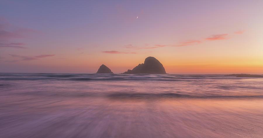 Oregon Moonset Photograph