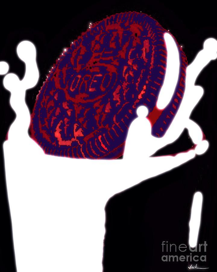 Oreo Painting - Oreo Dunk 3 by Jack Bunds