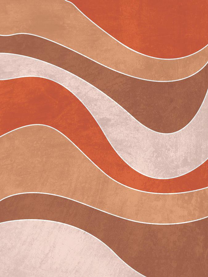Organica - Minimal Brown Abstract Mixed Media