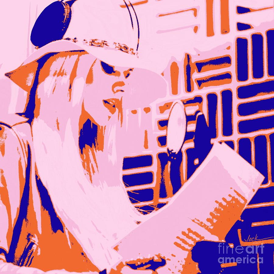 Orianthi Painting - Orianthi In Studio by Jack Bunds