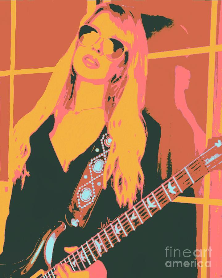 Orianthi Painting - Orianthi New Single by Jack Bunds