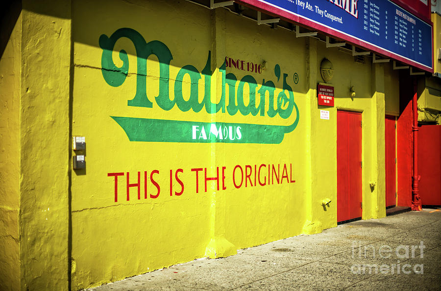 Original Nathan's in Coney Island by John Rizzuto