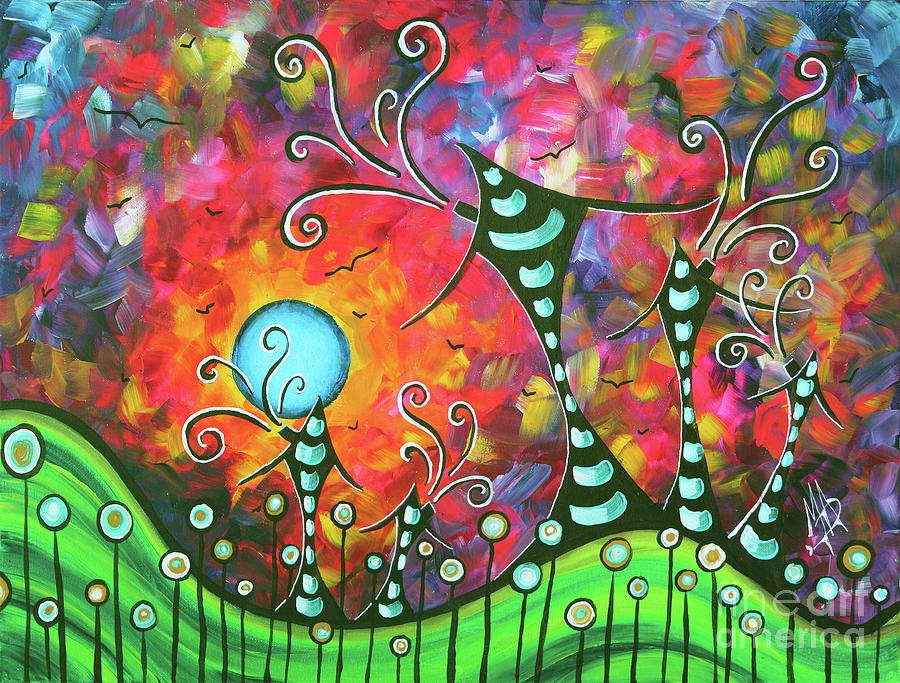 Original Whimsical Houses Landscape Paintings Land of Whimsy by Megan Duncanson by Megan Duncanson