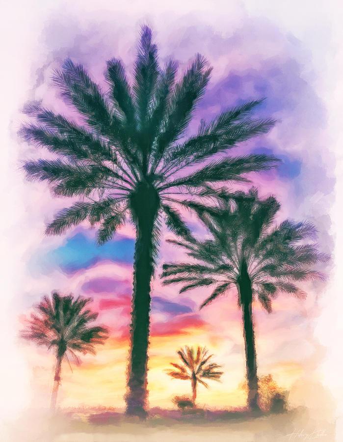 Orlando Tropical Sunset Painting