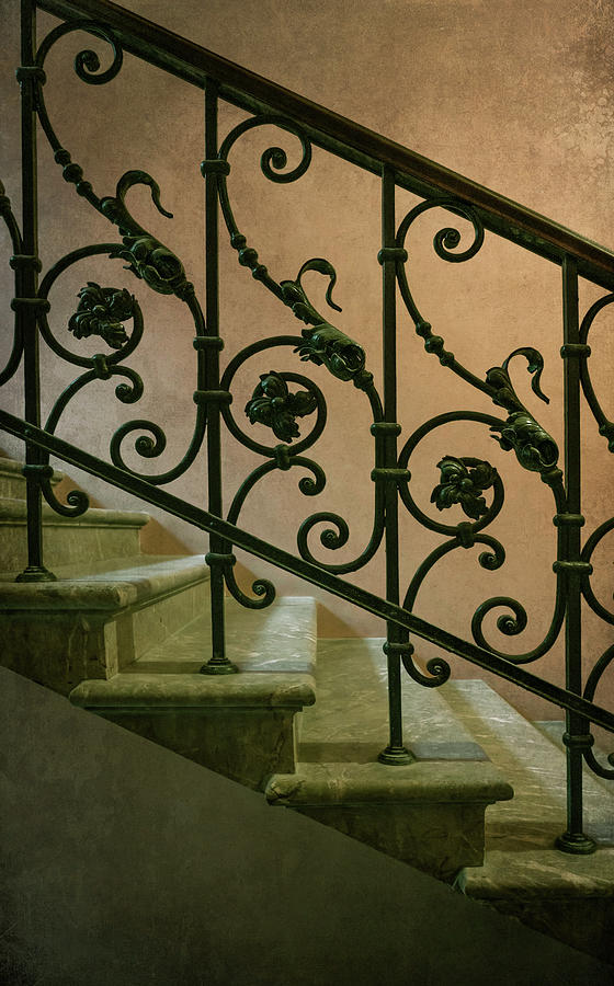 Ornamented stairs in an old house by Jaroslaw Blaminsky