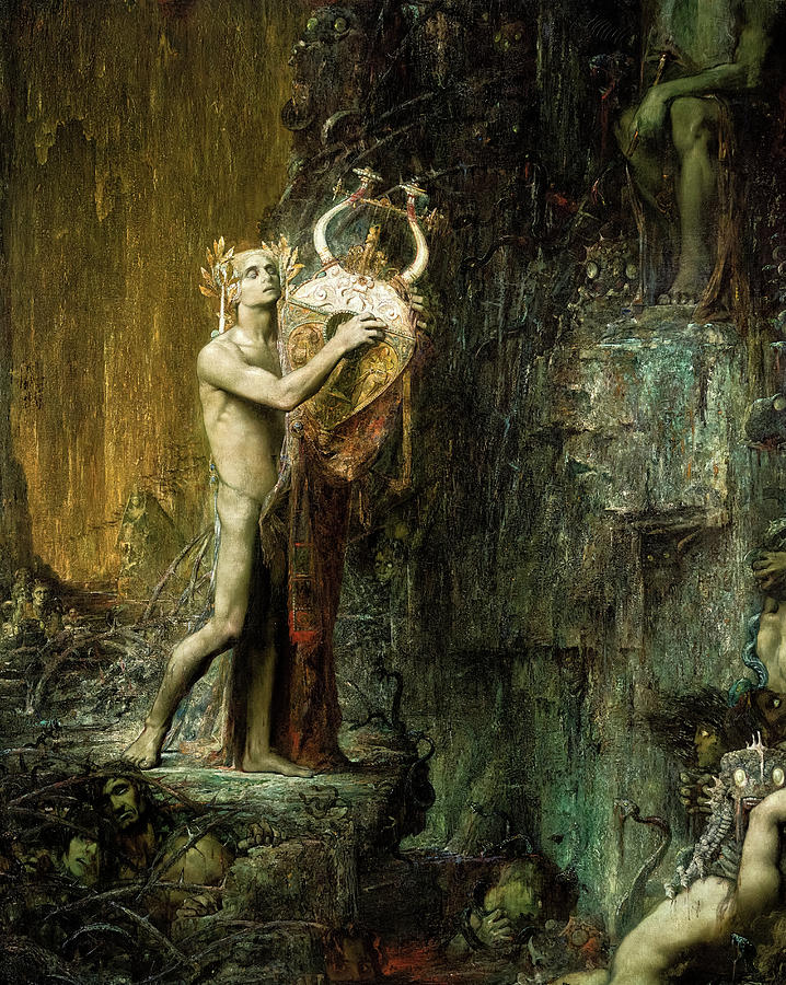 Orpheus In Hades Painting - Orpheus in Hades by Pierre Marcel-Beronneau