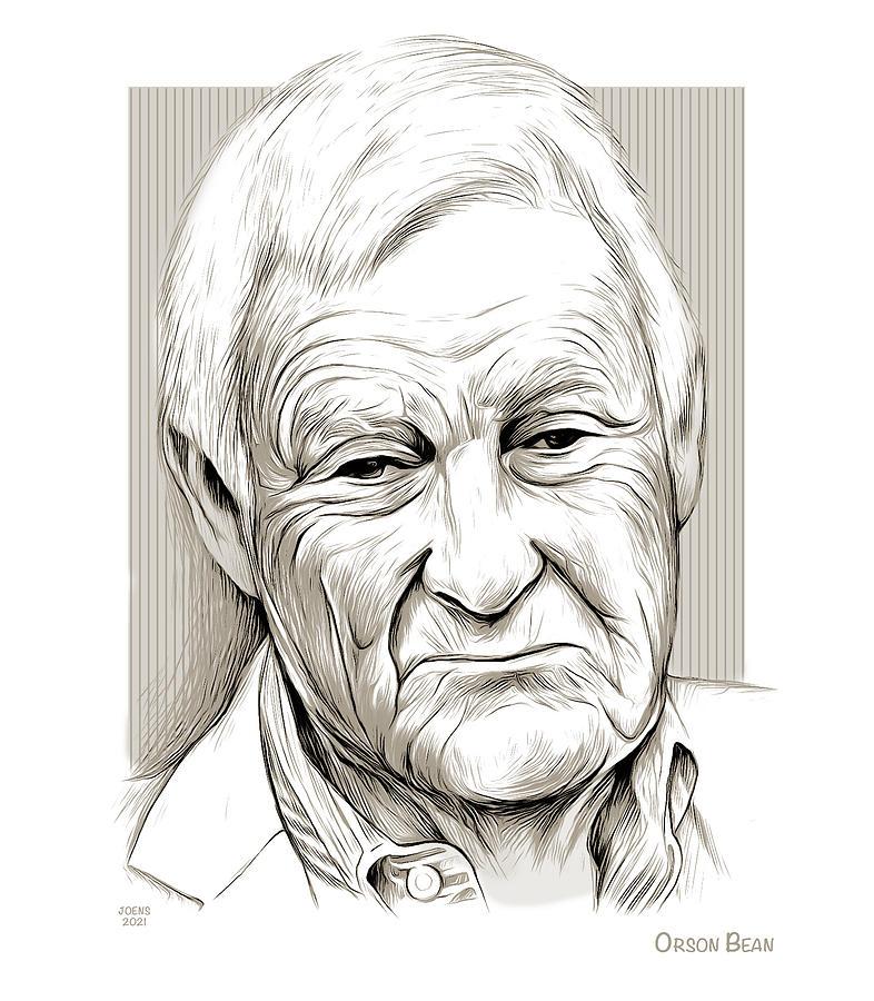 American Drawing - Orson Bean by Greg Joens