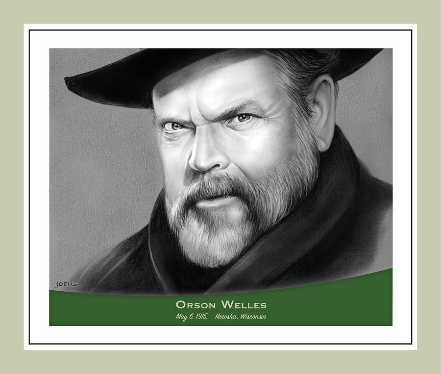 Orson Welles Drawing - Orson Welles birthday tribute by Greg Joens