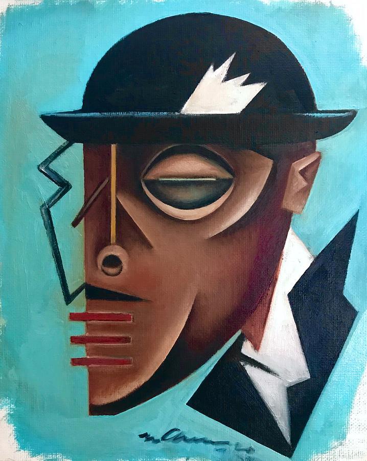 Jazz Painting - Osby/ Jazz- Last Hat Of Mr. Gutterman by Martel Chapman